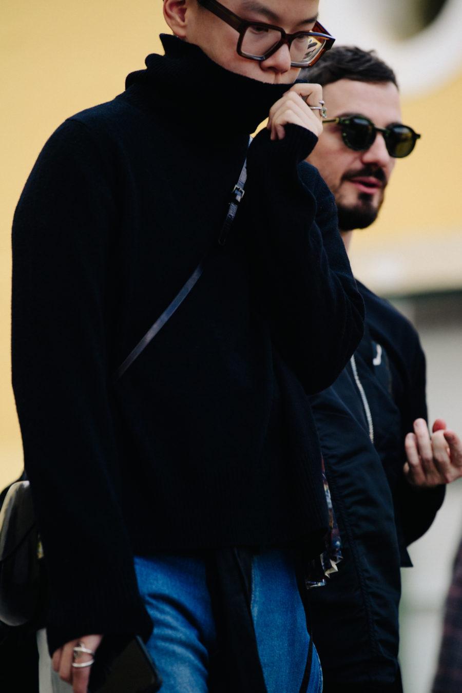 Man wearing black jumper